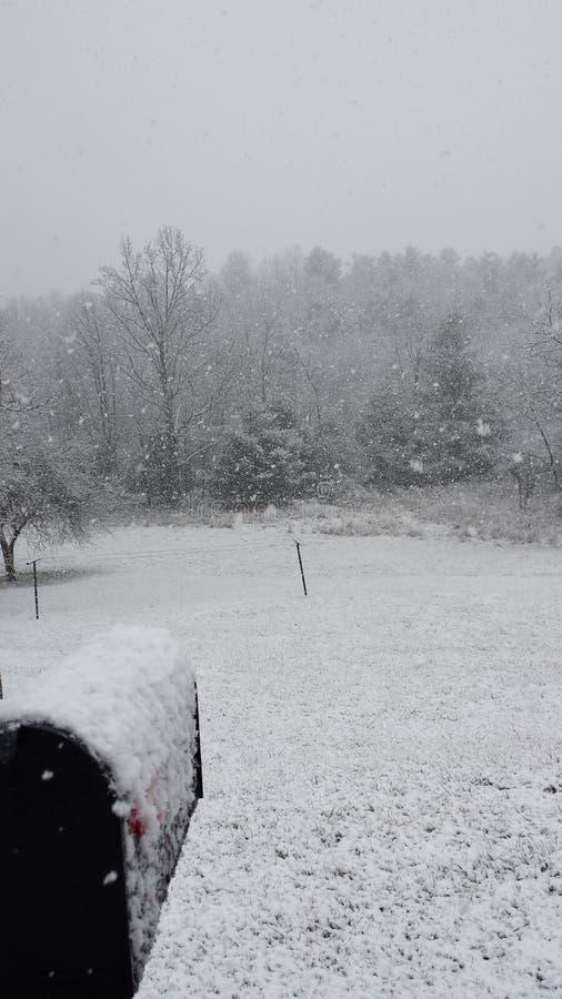 Varredura da neve imagem de stock