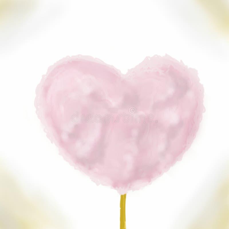 varredura do algodão doce da nuvem do amor fotografia de stock