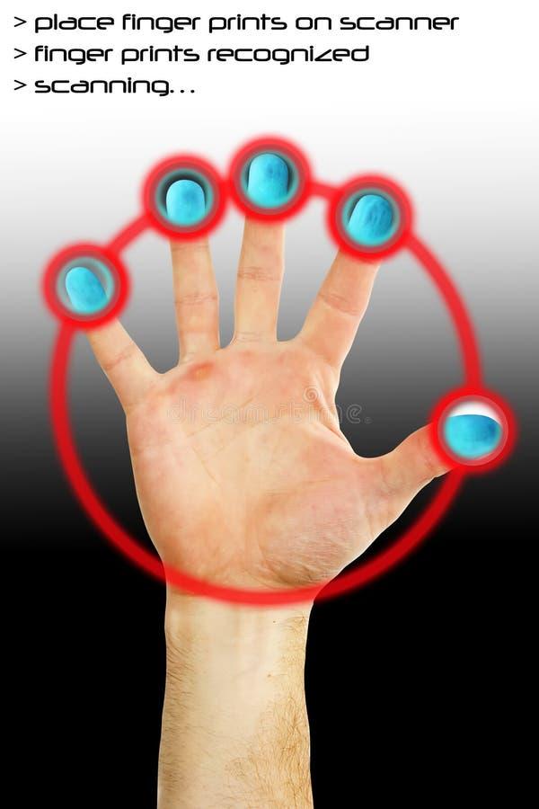 Varredura do dedo imagem de stock
