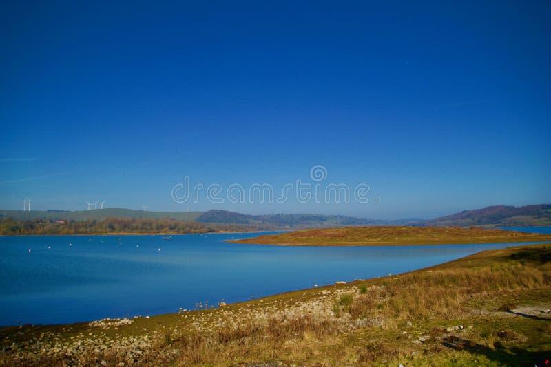 Varredura do lago fotografia de stock