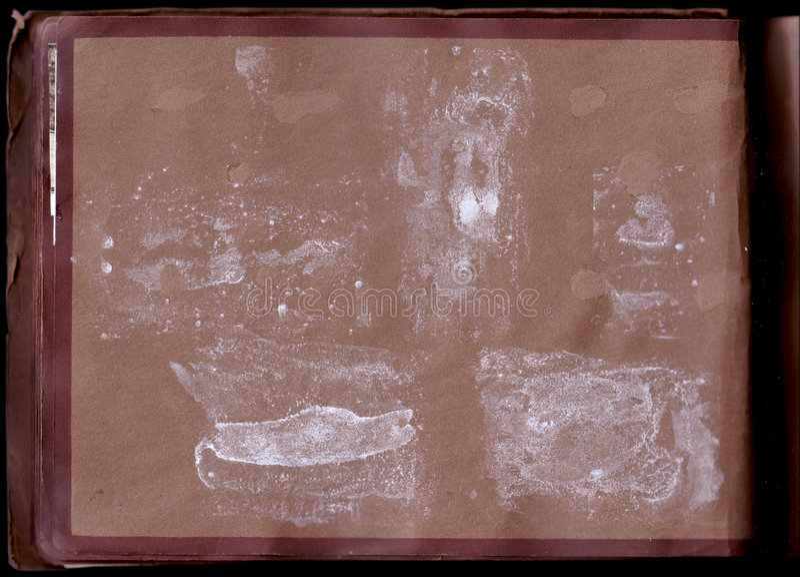 Varreduras velhas do álbum de foto (trajetos de grampeamento do inc) fotos de stock royalty free
