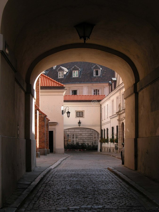 Varsóvia - cidade velha - Gateway foto de stock royalty free