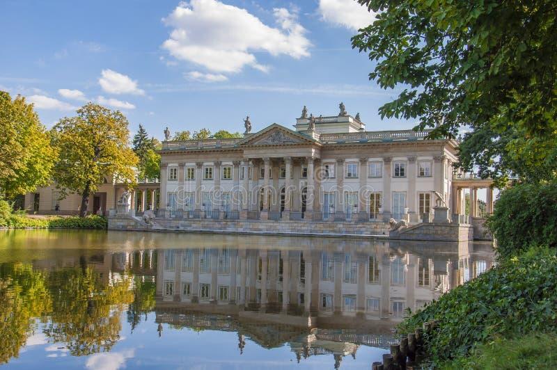 Varsóvia, Lazienki Royal Palace foto de stock royalty free