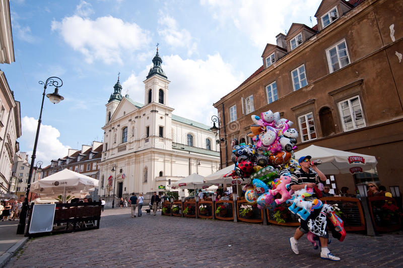Varsóvia Poland - cidade velha fotografia de stock royalty free