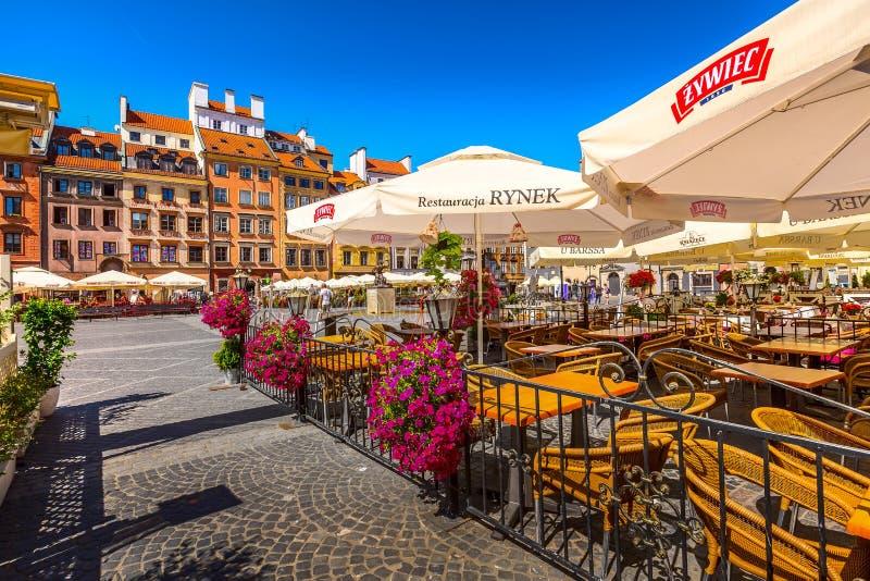Varsavia, capitale della Polonia, quadrato del mercato fotografia stock libera da diritti