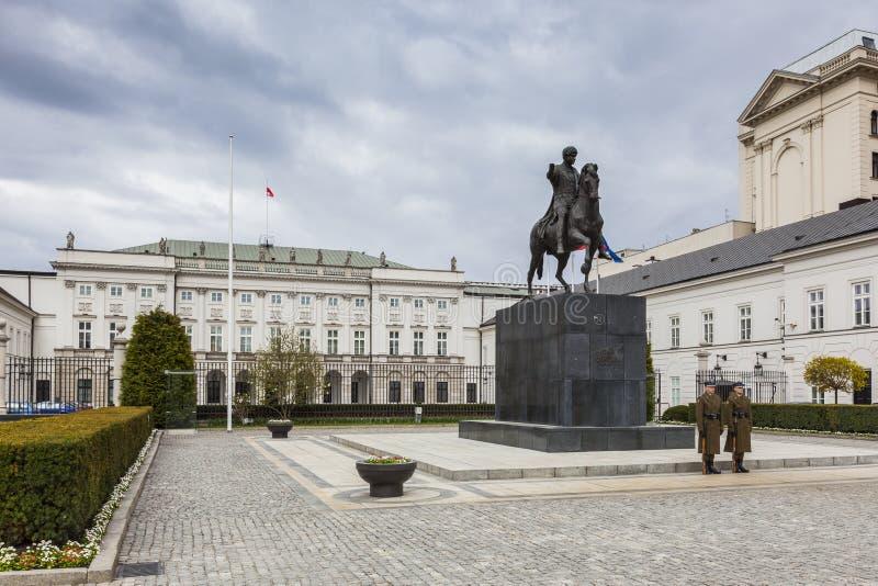 Varsavia - palazzo presidenziale fotografie stock
