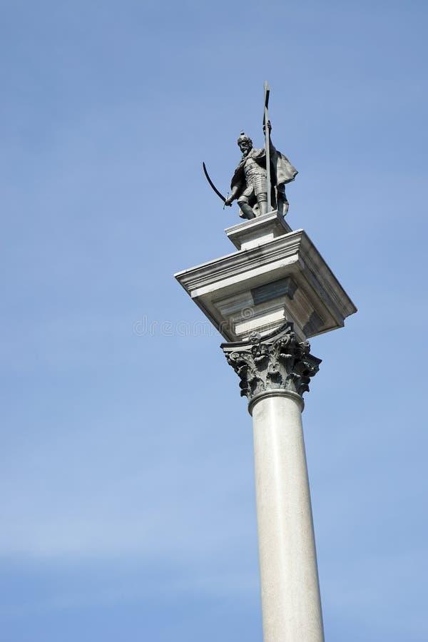 VARSAVIA, POLAND/EUROPE - 17 SETTEMBRE: Colonna di Zygmunts nel Ol fotografia stock libera da diritti