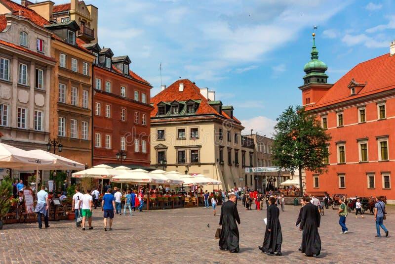 VARSAVIA, POLONIA - GIUGNO 2012: Di mercato di Città Vecchia immagine stock libera da diritti