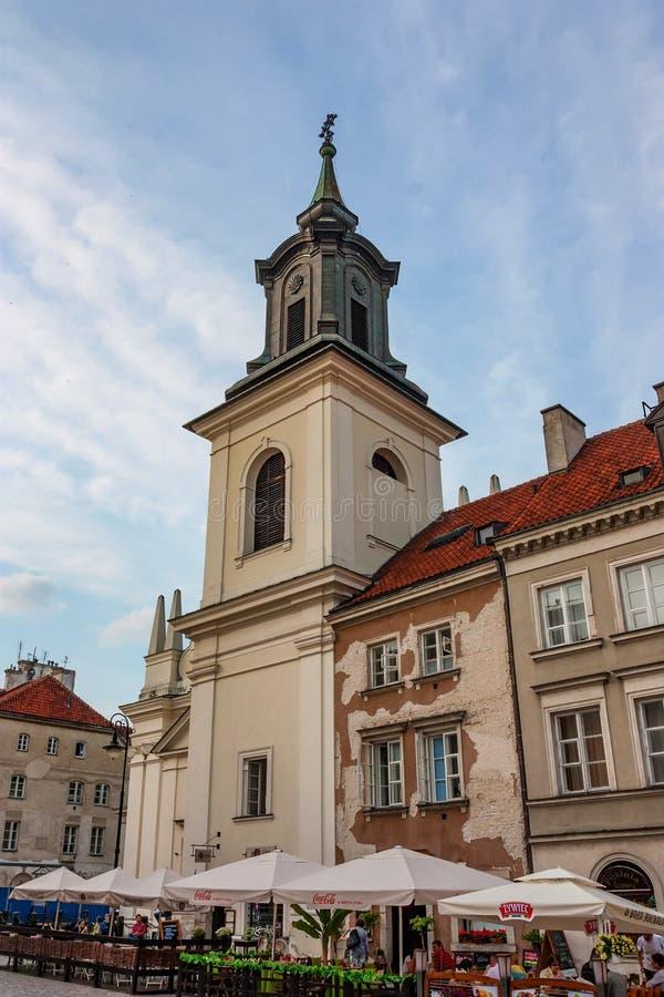 VARSAVIA, POLONIA - GIUGNO 2012: Di mercato di Città Vecchia immagine stock