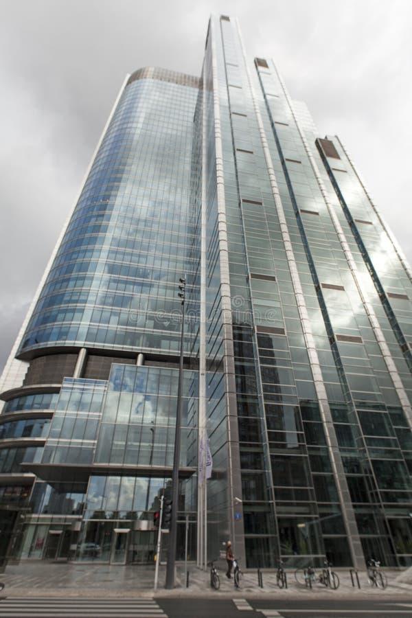 Varsavia, Polonia Grattacielo nel centro della città immagine stock libera da diritti