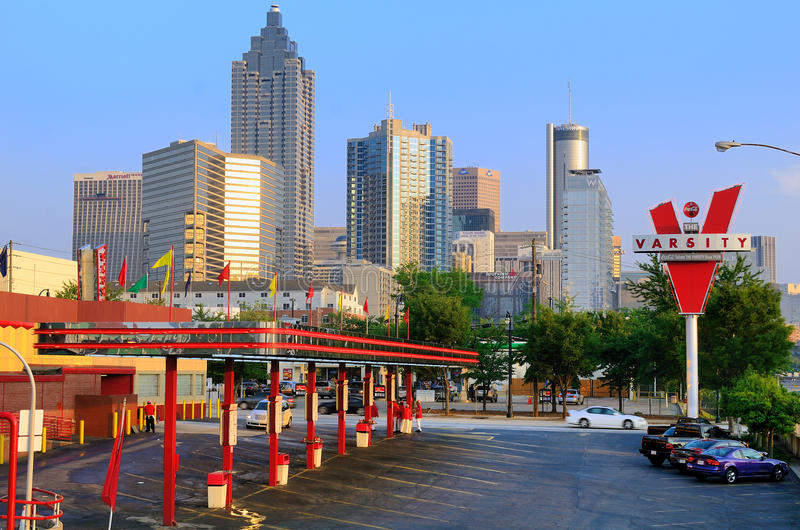 The Varsity in Atlanta, Georgia royalty free stock image
