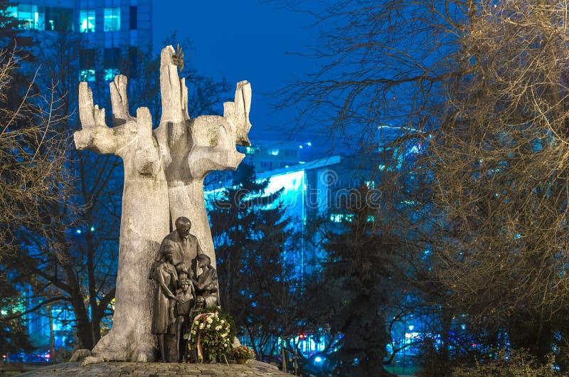 Varsovia judía, monumento a Janusz Korczak imágenes de archivo libres de regalías