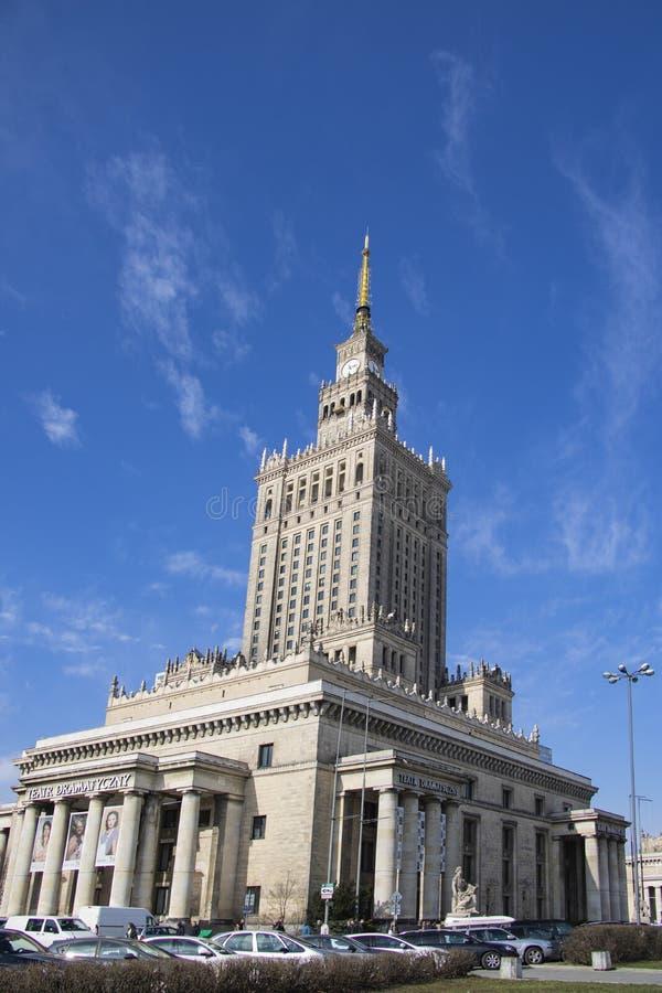 Varsovia, Polonia, el 10 de marzo de 2019: Palacio de la cultura y de la ciencia, Varsovia imagen de archivo