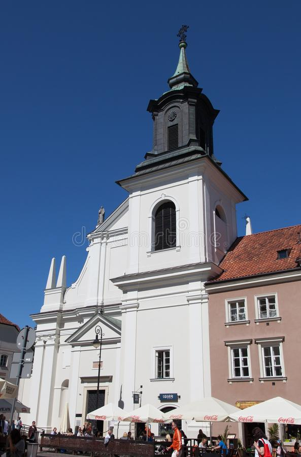 varsovie Église dominicaine de St Jacek image stock