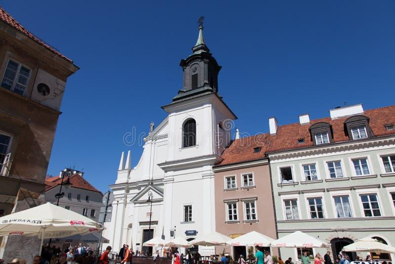 varsovie Église dominicaine de St Jacek photos libres de droits
