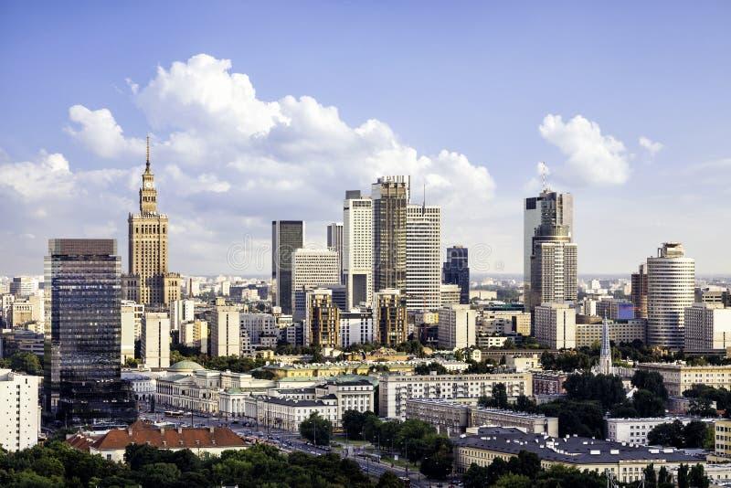 Varsovie du centre photo stock