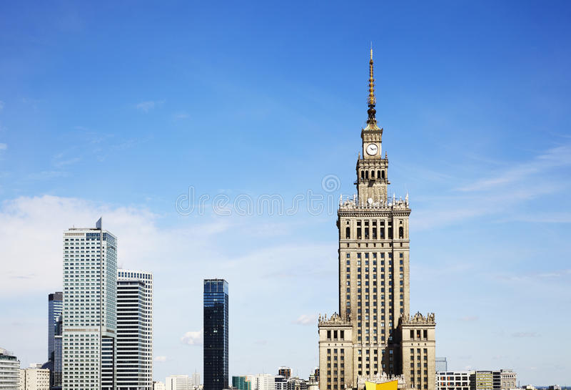 Varsovie du centre poland image stock