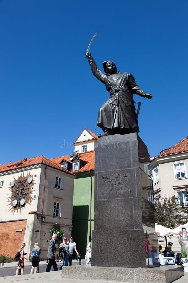 varsovie Monument à Jan Kilinitsky photos stock