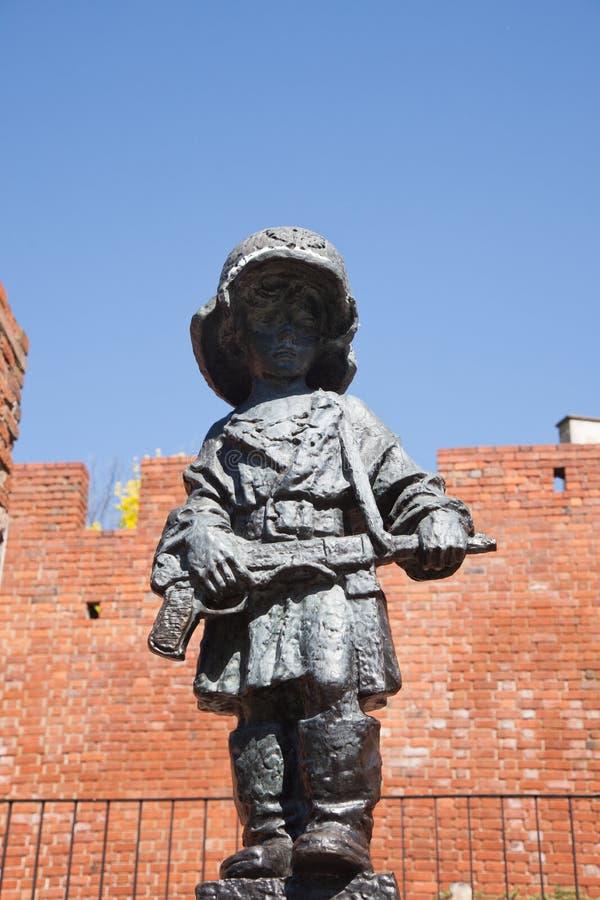 varsovie Monument au jeune insurgé photos stock
