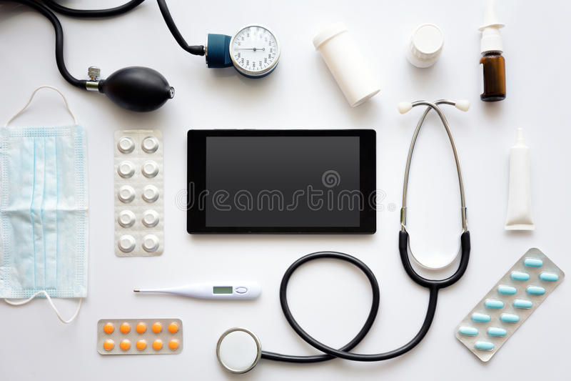 vart begreppshanden har den sena pillen för sjukvårdhjälp arkivbilder