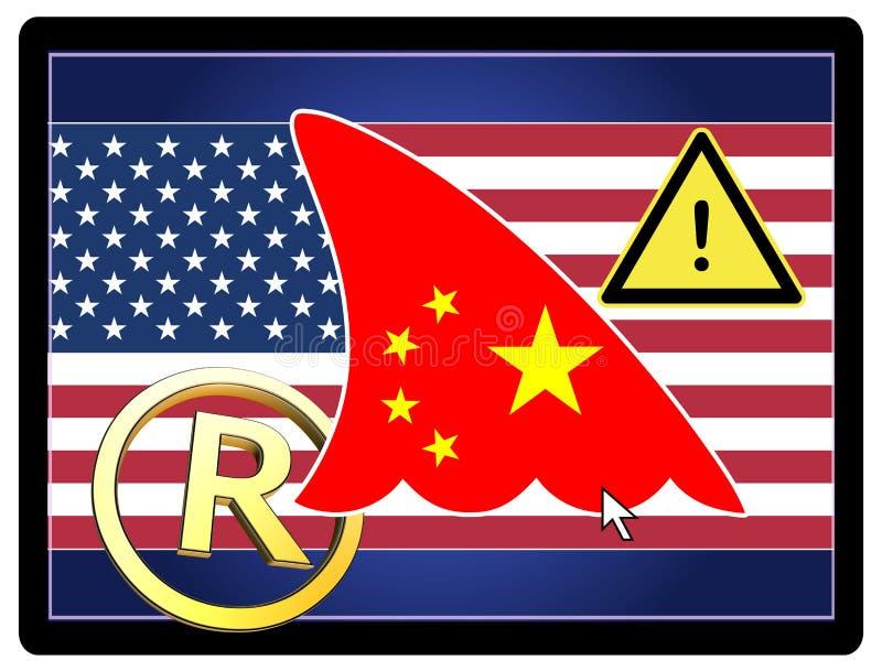 Varumärkesstöld vid Kina vektor illustrationer