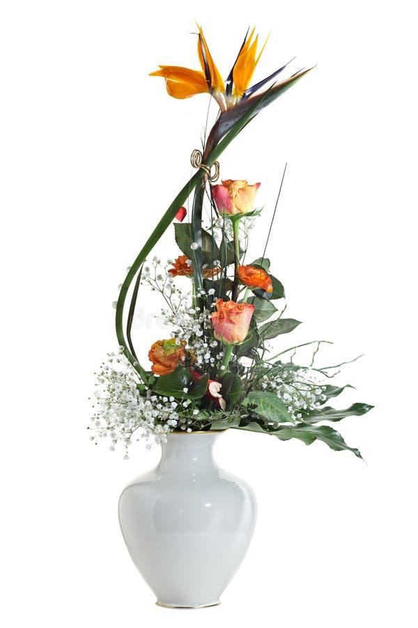 Vas av blommor. royaltyfri foto