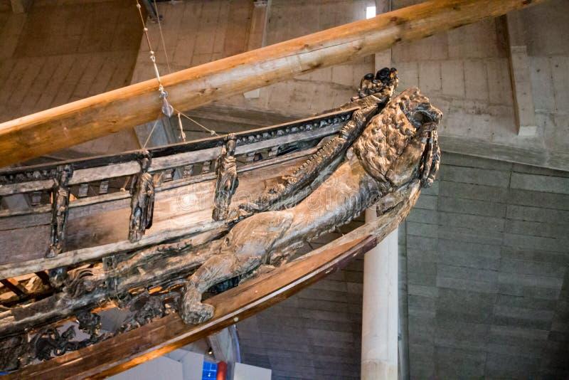 Vasa Dziejowy Drewniany statek fotografia royalty free