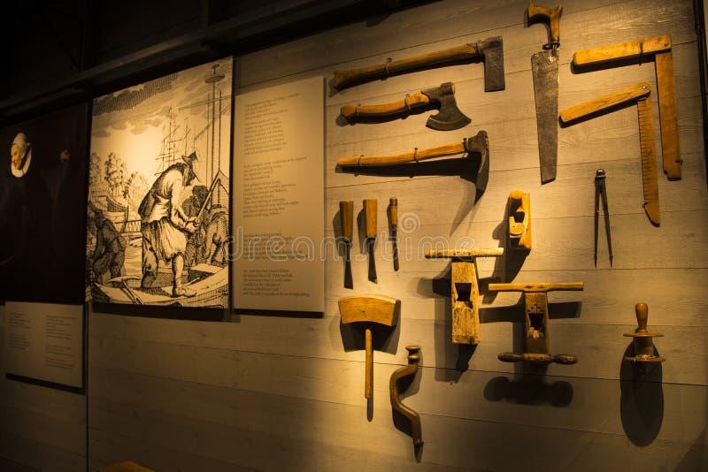Tools used in ancient Battleship Vasa royalty free stock image