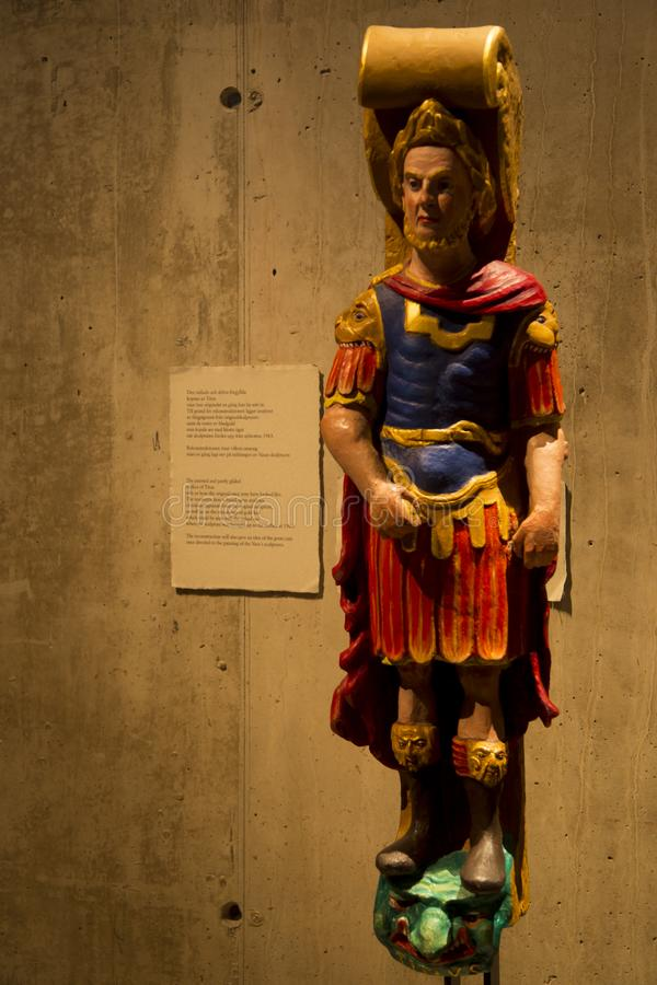 Colored Replica of Titus at VASA ship. royalty free stock images