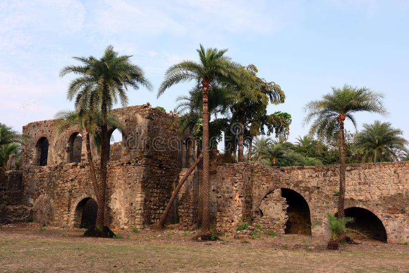 Vasai Fort. Bassein Fort also known, as Vasai Fort is an important sea fort located in Vasai. Located about 50 km from Mumbai, this fort was built by Bahadur royalty free stock image