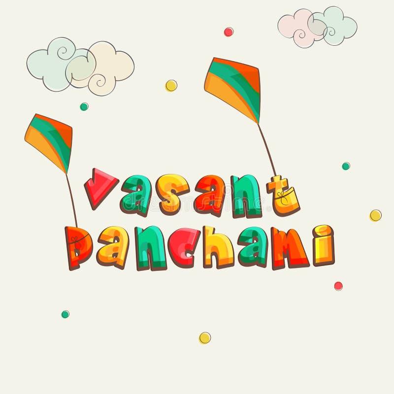 Vasant Panchami heureux, célébration indoue de festival de la Communauté illustration de vecteur