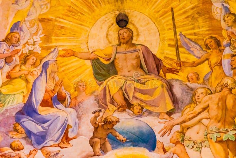 Vasari fresku jezus chrystus kopuły Duomo Katedralny Florencja Włochy obraz stock