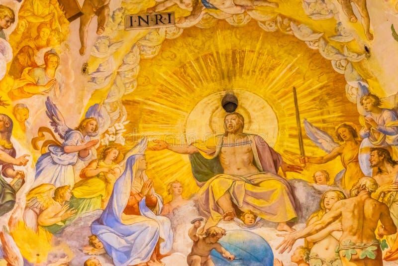 Vasari fresku jezus chrystus kopuły Duomo Katedralny Florencja Włochy obraz royalty free