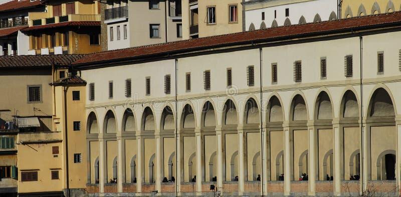 Vasari's corridor royalty free stock photos