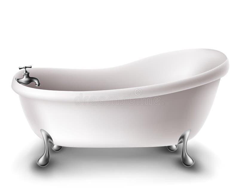 Vasca bianca illustrazione di stock