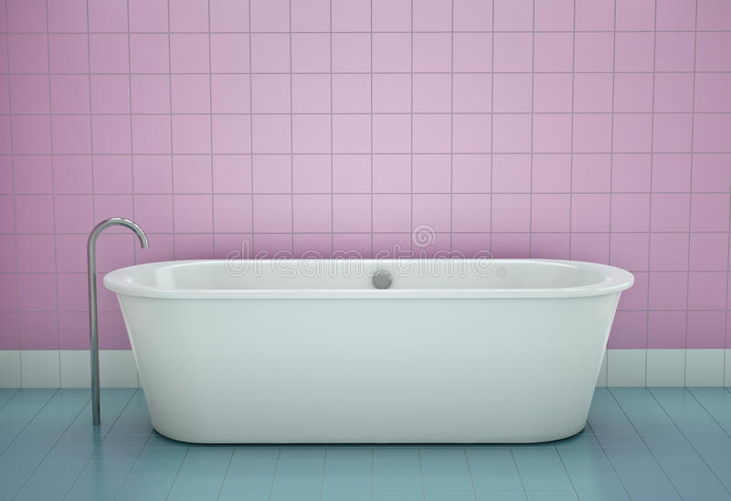 Vasca da bagno illustrazione vettoriale