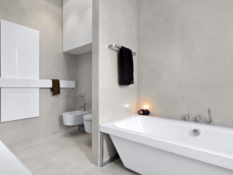 Vasca da bagno bianca moderna per la stanza da bagno immagine stock immagine di bathtub - Vasca da bagno moderna ...