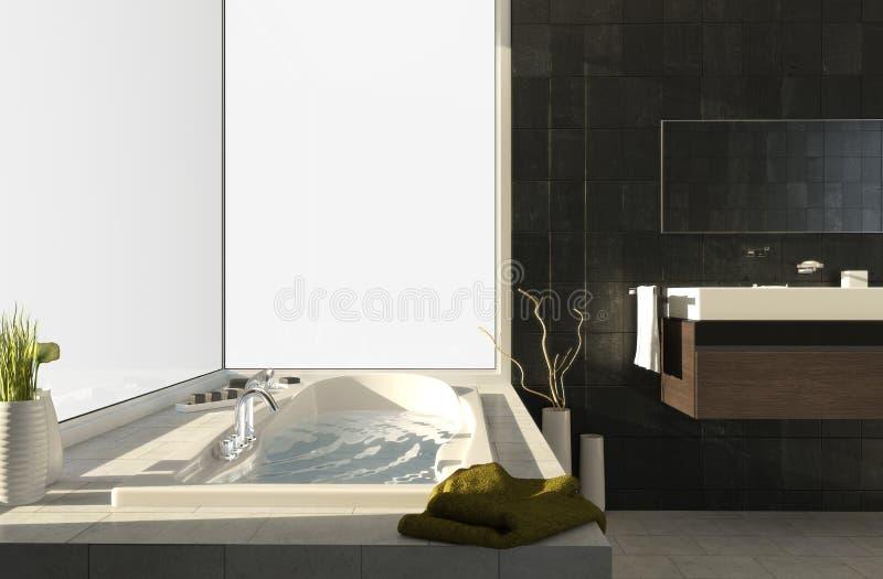 Vasca da bagno con le viste 2 immagini stock