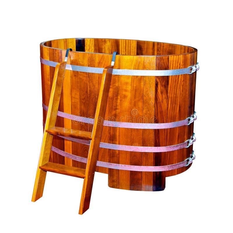 Vasca da bagno di legno fotografia stock immagine di - Vasca bagno legno ...
