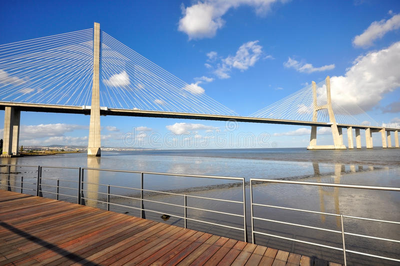 Vasca Da Gama Bridge Stock Photo
