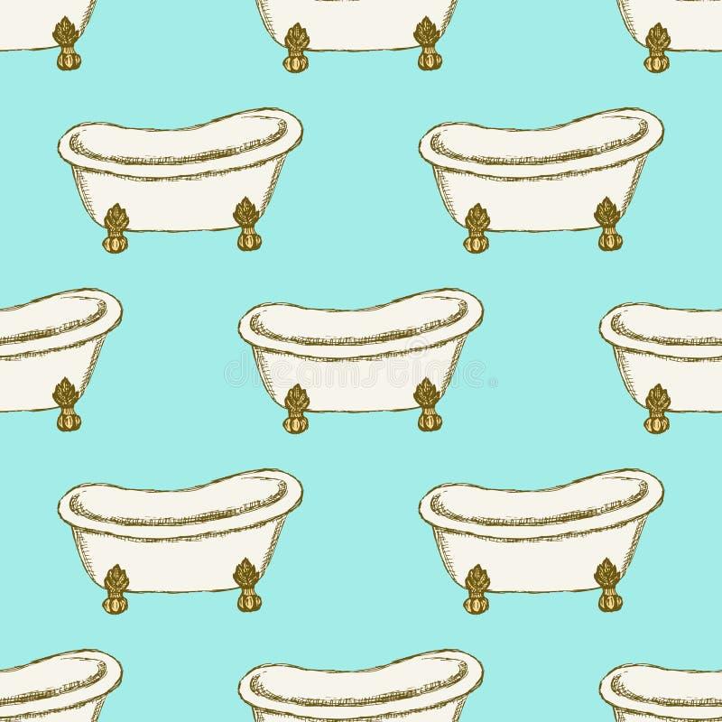 Download Vasca Di Schizzo Nello Stile D'annata Illustrazione Vettoriale - Illustrazione di incluso, ritaglio: 56887102