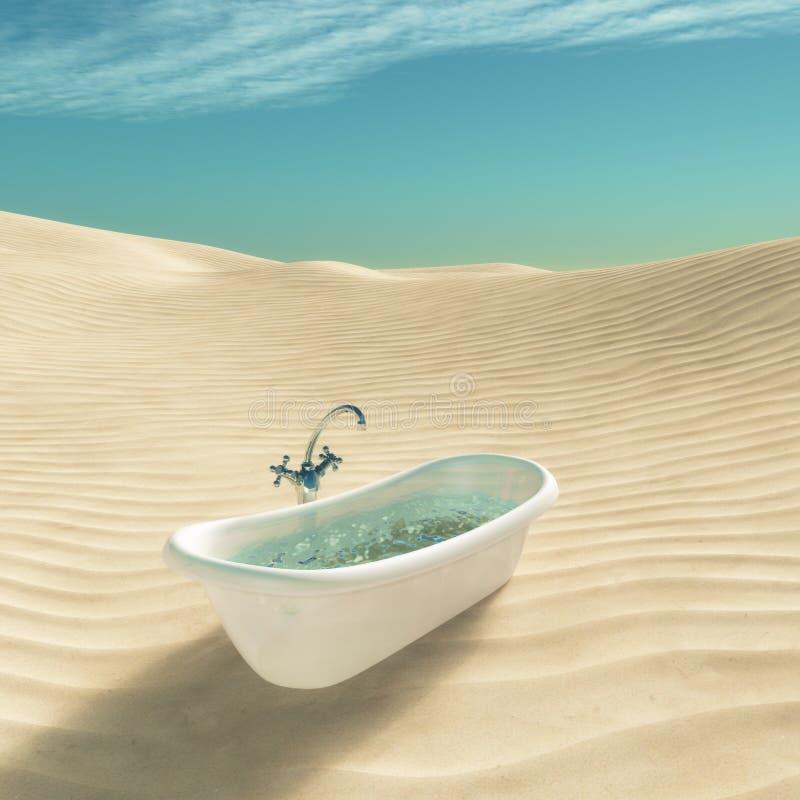 Vasca in pieno di acqua royalty illustrazione gratis