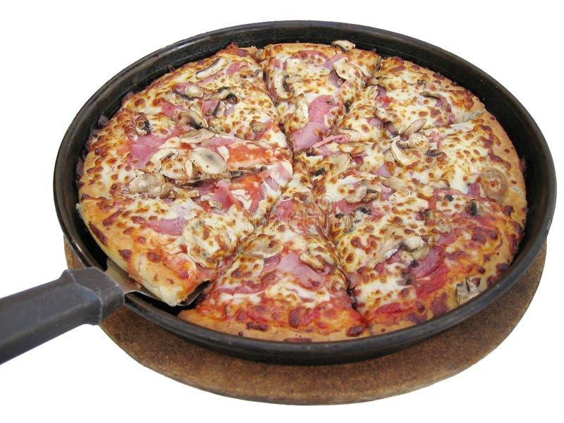 Vaschetta della pizza fotografia stock