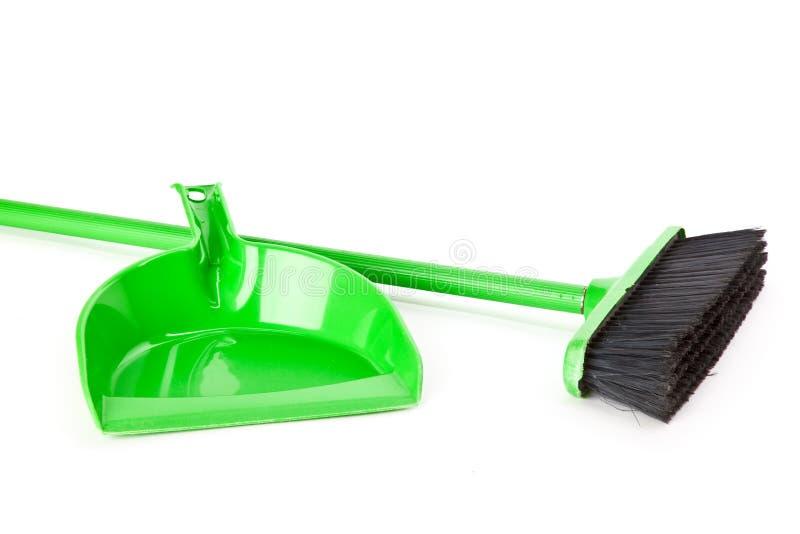 Vaschetta della polvere e del Mop immagini stock libere da diritti
