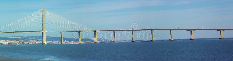 Vasco da Gama Bridge en Lisboa, Portugal, Europa imágenes de archivo libres de regalías