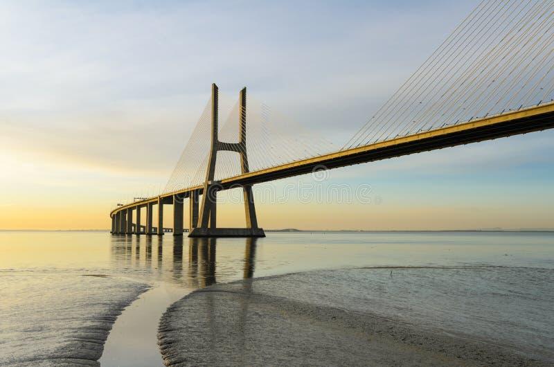 Download Vasco Da Gama Bridge At Sunrise, Lisbon Stock Image - Image of ponte, landmark: 24904081