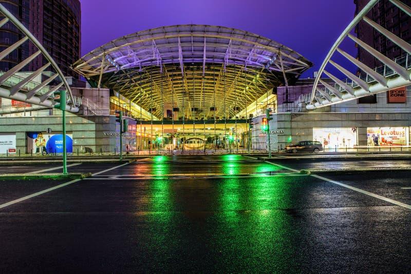 Vasco da Gama Shopping Centre en parc des nations, Lisbonne, Portugal images libres de droits