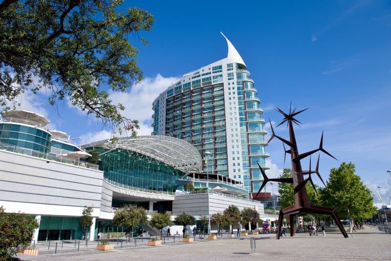 Vasco da Gama Shopping - Park van Naties - Lissabon royalty-vrije stock afbeeldingen