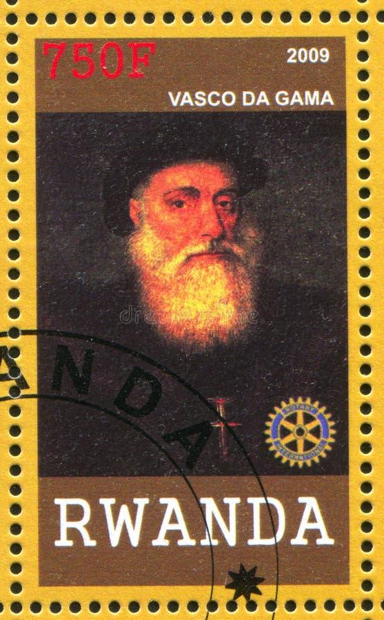 Vasco da Gama skrivev ut vid Rwanda arkivbilder