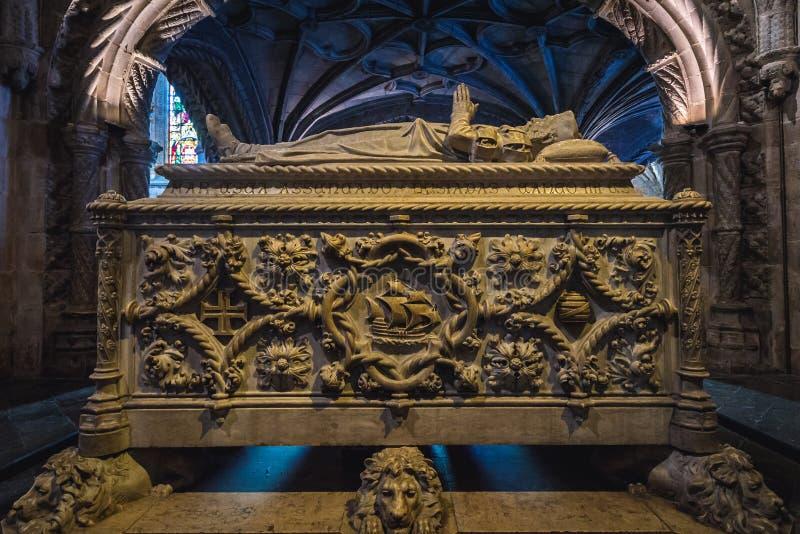 Vasco da Gama Tomb royaltyfri fotografi